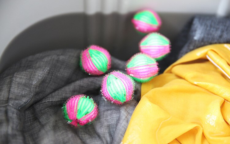 6pcs Laundry Ball Magic Hair Removal Clothes Personal Care Hair Ball Washing Machine Cleaning Ball Grabs Fuzz Hair Laundry Ball