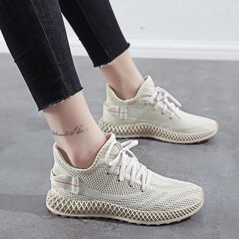 Women's Shoes Spring Women Yellow Sneakers Red Breathable Mesh Flying Casual Korean Tenis Outdoor Walking Woman Vulcanize Shoes