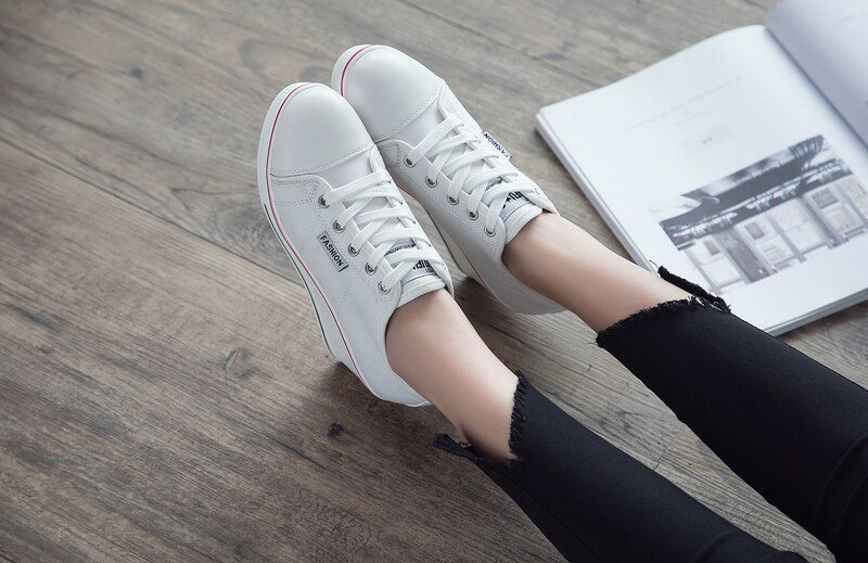 New Woman Wedge Canvas Vulcanize Shoes Platform Breathable Canvas Shoes Casual Students Candy Color Wedge Sneakers